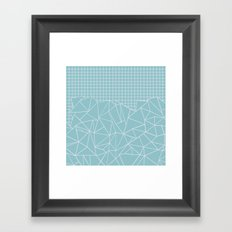 Ab Outline Grid Salty Framed Art Print