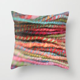 Handspun Yarn Color Pattern by robayre Throw Pillow