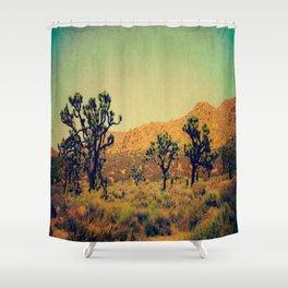 Joshua Trees in the California Desert Shower Curtain
