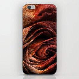 Bleeding Rust Rose iPhone Skin