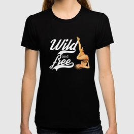 Wild and free,retro style T-shirt