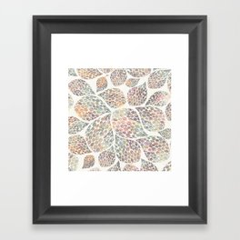 Soft Color Abstract Leaf Scatter Framed Art Print