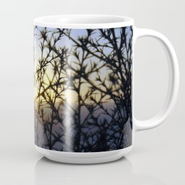 Pacific Coast Sunset Through the Trees at Torrey Pines State Beach, California - Color Photo Coffee Mug