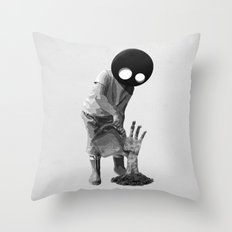 Gardener (black and white) Throw Pillow