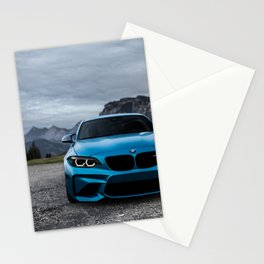 Sports Car Blue Stationery Cards