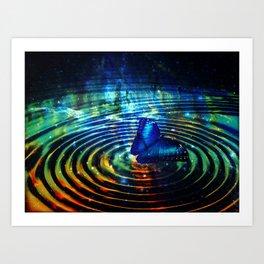 The Butterfly Effect in Blue Art Print
