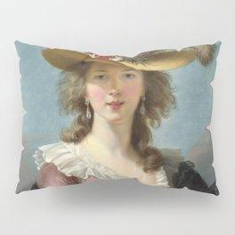 Louise Élisabeth Vigée Le Brun - Self Portrait in a Straw Hat Pillow Sham
