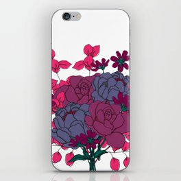Pink and Purple Floral Bouquet iPhone Skin