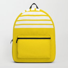 Classic White Stripes on Yellow Backpack