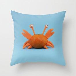 Crab tangerine Throw Pillow