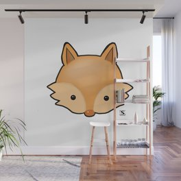 Baby Fox Kawaii Wall Mural