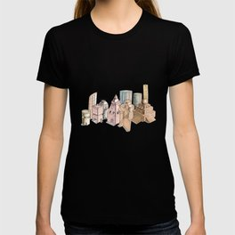 the city painted in pastel colours . illustration . art T-shirt