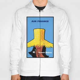 1963 Air France FRENCH RIVIERA Travel Poster Hoody