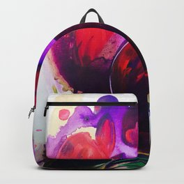 Purple and Gold Poppies Maybe? Backpack