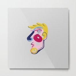 Big Blonde Guy - Modern Abstract Portrait Metal Print