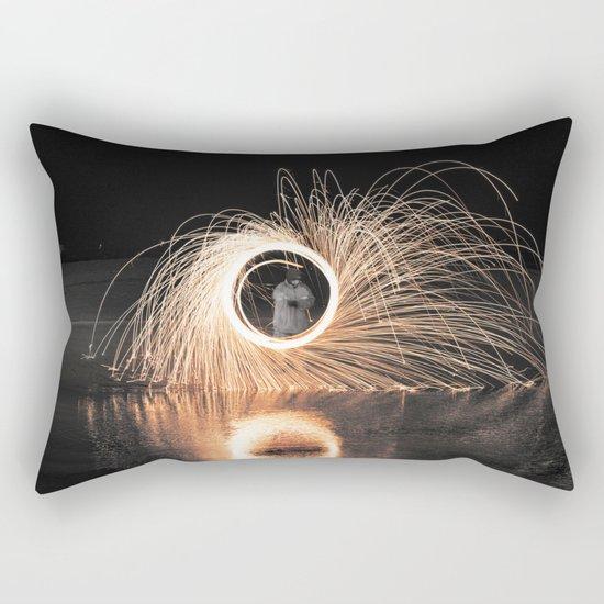 Fire Spinner Rectangular Pillow