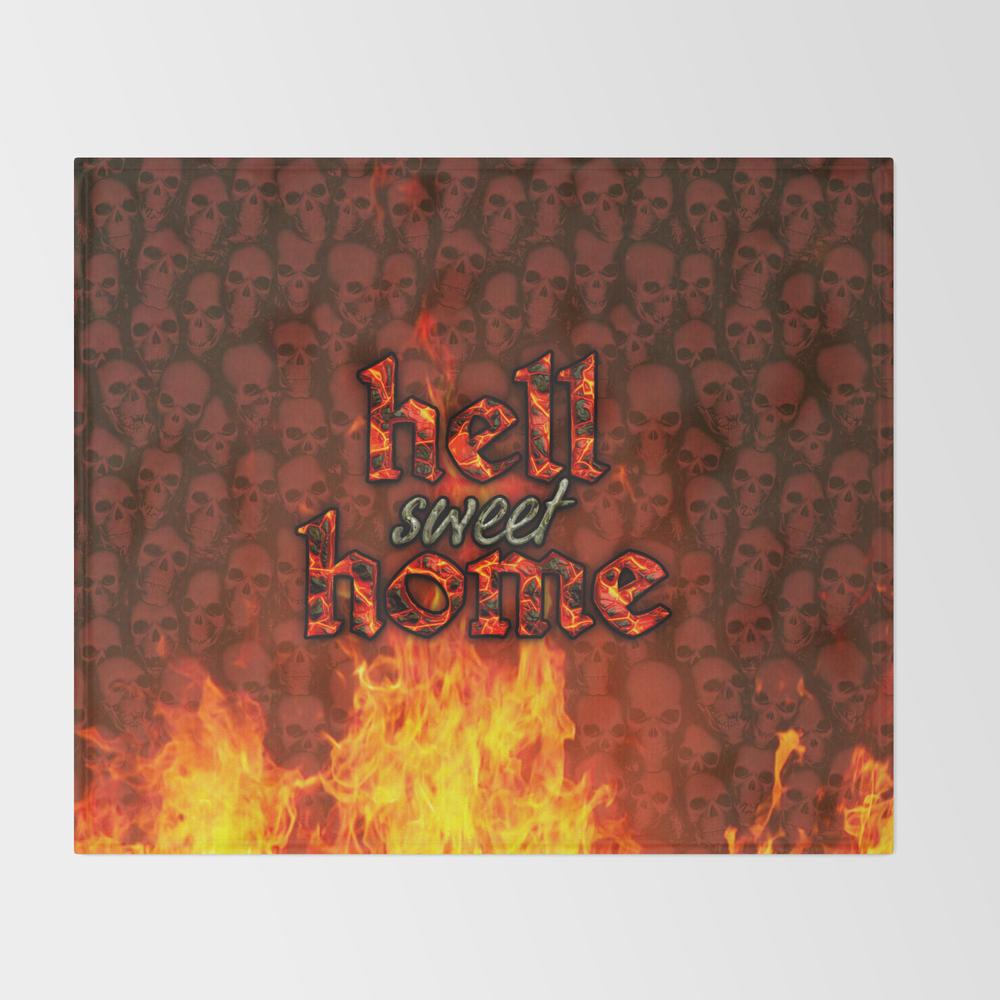 Hell Sweet Home Fleece Throw BLK8068142