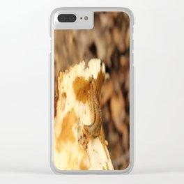A Slug on a Mushroom Clear iPhone Case