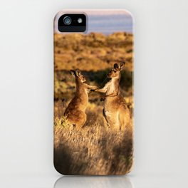 Mother and Joey Kangaroos iPhone Case