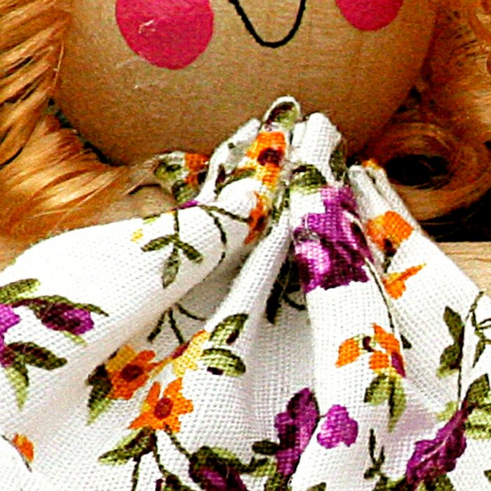 Clothes Peg Doll and Flowers Leggings