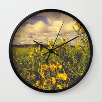 Field of Happiness Wall Clock