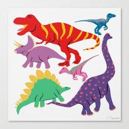 Dinosaur Domination - Light Canvas Print