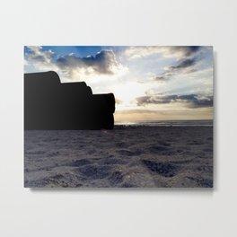 Beach Intruders Metal Print