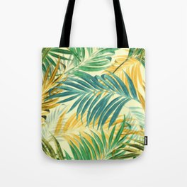 Palm Leaves in Yellow Tote Bag