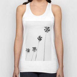 Black & White Palms Unisex Tank Top