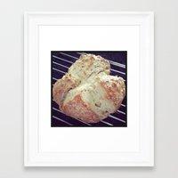 bread Framed Art Prints featuring Bread by Yellow Barn Studio