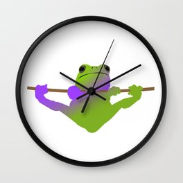 The Hanging Frog Wall Clock