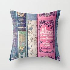 A Perfect Library photo Throw Pillow