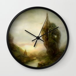 Over There Landscape Painting Wall Clock