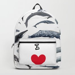 I love whales design Backpack