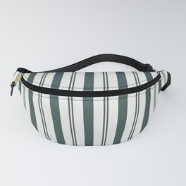 Night Watch Color of the Year PPG1145-7 Thick and Thin Vertical Stripes on Delicate White Fanny Pack