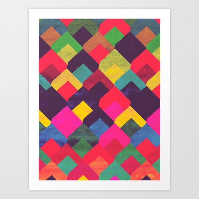 colour + pattern 11 Art Print