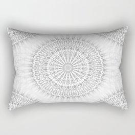 Gray White Mandala Rectangular Pillow