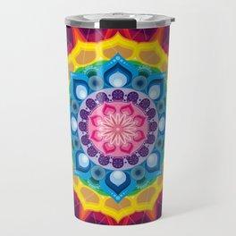 Mandala- Spectrum Lotus Travel Mug