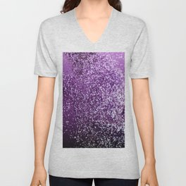 Purple Glitter #1 #decor #art #society6 Unisex V-Neck