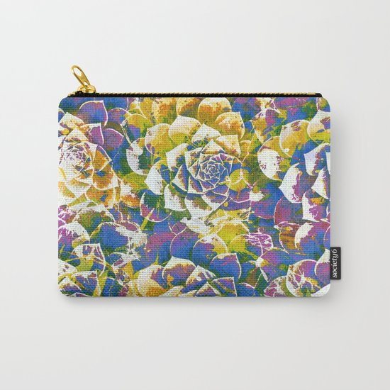 colored succulent in abstract way Carry-All Pouch