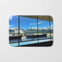 Mountain View from the Jackson Hole Airport Bath Mat