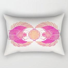 Egyptian Scarab – Pink Ombré Rectangular Pillow