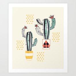 Cactus in a Pot Art Print