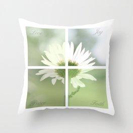 Boxed faith Daisy Throw Pillow