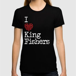 I Heart Kingfishers | Love Kingfisher Bird Breeds T-shirt