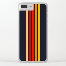 "Five Colorful Stripes on Black ""Sunrise"" Clear iPhone Case"