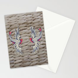 Blue & Pink Swallows Stationery Cards
