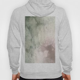 Abstract blush pink green white watercolor brushstrokes Hoody