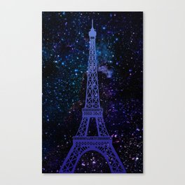 Romace in paris Canvas Print