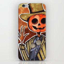 Mr Steampumpkinhead iPhone Skin